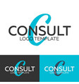 consult logo letter c logo logo template vector image