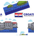 croatia travel destination seamless pattern vector image vector image
