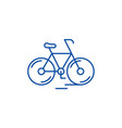 cute bicycle line icon concept cute bicycle flat vector image vector image
