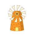 cute cartoon colored greek mill vector image vector image