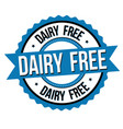dairy free label or sticker vector image vector image