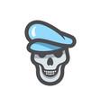 dead captain in hat icon cartoon vector image