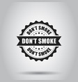 dont smoke grunge rubber stamp on white vector image vector image
