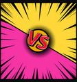empty comic book style background versus design vector image vector image