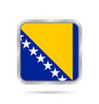 flag of bosnia and herzegovina square button vector image