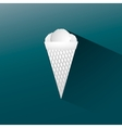 Flat Icon ice cream with shadow vector image vector image