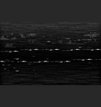 glitch vhs black and white analog distortion vector image vector image