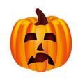 halloween party pumpkin character vector image vector image
