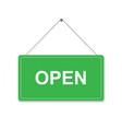 hanging door sign board vector image