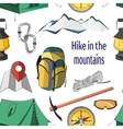 Hike in the mountains pattern vector image vector image