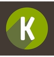 Letter K Logo Flat Icon Style vector image vector image