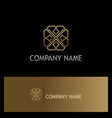 line geometry circle gold logo vector image vector image
