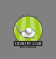 logo for golf club vector image vector image