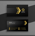 luxury dark business card design vector image vector image