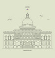 massachusetts state house in boston usa landmark vector image