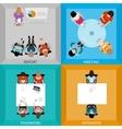 Meetings Of Business People Top View Set vector image vector image