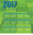Modern Green Geometrics 2017 Printable Calendar vector image vector image