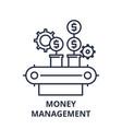 money management line icon concept money vector image vector image