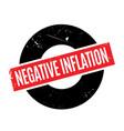 negative inflation rubber stamp vector image