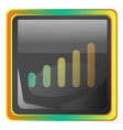 network grey square icon with yellow and green vector image