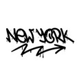 new york graffiti tag vector image vector image