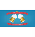 Oktoberfest beer festival with red ribbon vector image