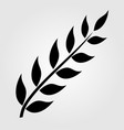 olive branch silhouette icon isolated on white vector image