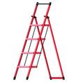 red aluminum step folding ladder vector image