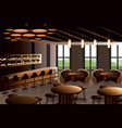 restaurant interior with industrial look vector image