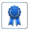 ribbon award icon blue 2 vector image vector image