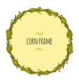 Round corn frame vector image vector image