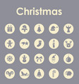set of christmas simple icons vector image vector image