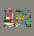 set of tools for construction and repair vector image vector image