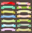 set vintage colored banner ribbons vector image vector image