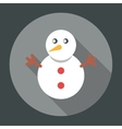 Snowman Icon Flat vector image vector image