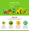 summer camp web design vector image vector image