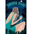 Summer Night in the tropics vector image vector image