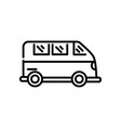 transport van car tourism travel thick line vector image