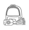 travel bag tourism icon vector image vector image