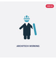 two color architech working icon from people vector image vector image