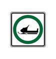 usa traffic road signs snowmobiles may use vector image vector image