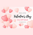 valentines day sale background discount offer vector image vector image