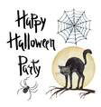 Watercolor set of elements for Halloween party vector image