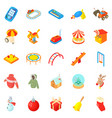 wean icons set cartoon style vector image vector image