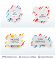 white badge stickers collection vector image vector image