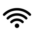 wifi black icon wireless internet signal symbol vector image