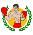 Winner boxing emblem vector image vector image