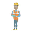 young african building inspector with clipboard vector image vector image