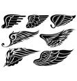 Decorative design wings vector image