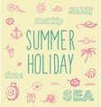 Retro elements for Summer calligraphic designs vector image